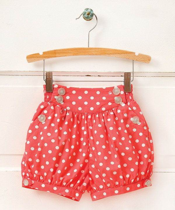 Look at this Red Retro Dream Polka Dot High-Waist Shorts - Toddler & Girls on #zulily today!