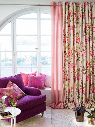 116 best Lovely floral curtains images on Pinterest | Floral ...