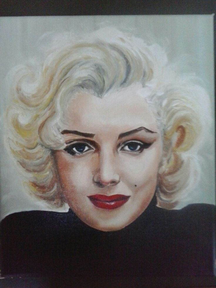 """Marylin""oil on canvas 25x30 painted by Ariela Salcini"