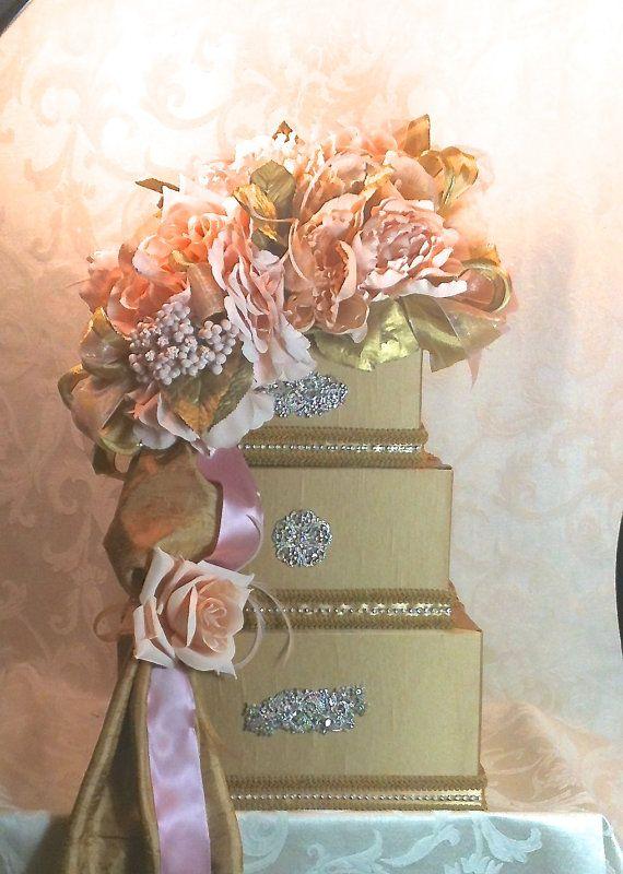 Wedding Card Box Gold and Diamond Wedding Card Box, Secured Lock Wedding Card Box, Diamond Wedding Card Box, Gold Wedding Card Box