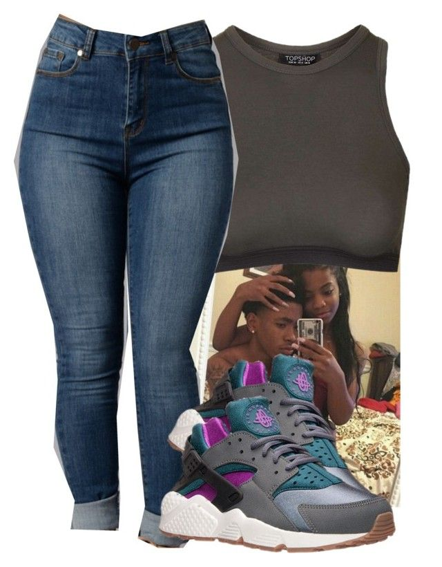 """""""Untitled #418"""" by dopegahl ❤ liked on Polyvore featuring Topshop and NIKE"""