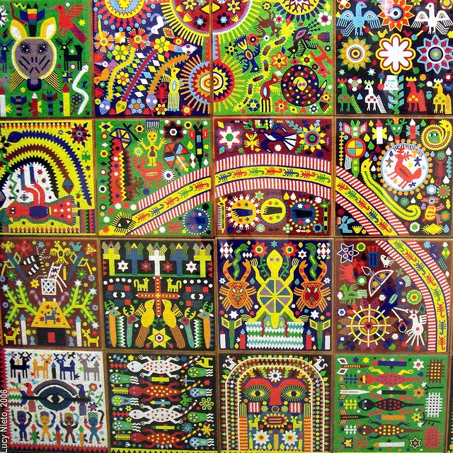 Huichol art, every symbol represents part of their history and culture.