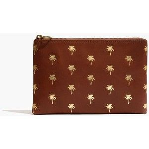 MADEWELL The Leather Pouch Clutch: Palm Tree Edition