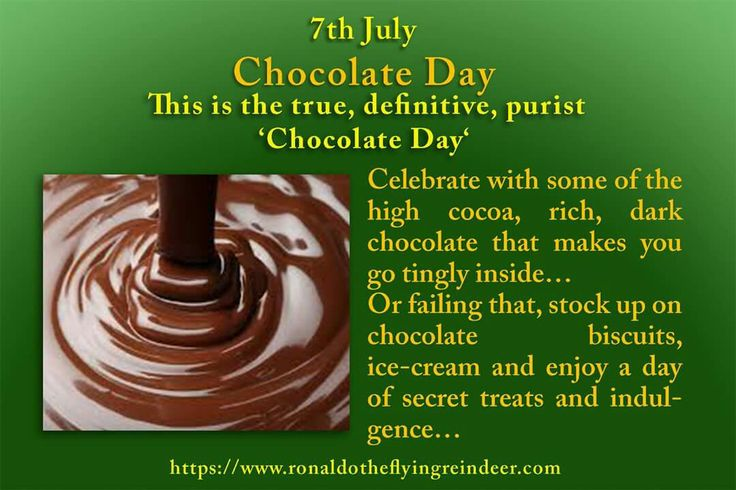 #today 7th July is #ChocolateDay #NationalMacaroniDay #StrawberrySundaeDay  There are a number of dates throughout the year promoting variations of local, national or international Chocolate Day  #chocolate #chocolates  #chocolatelover