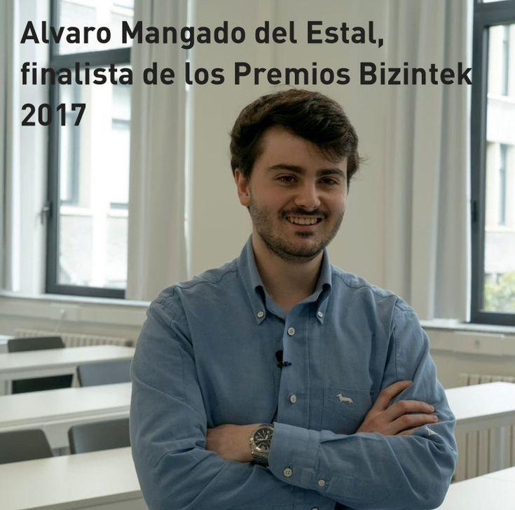 Alvaro Mangado del Estal, finalista de los Premios Bizintek 2017. Con su datalogger para control de calidad.
