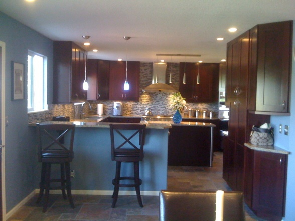 Grey Kitchen Walls With Cherry Cabinets 7 best the grey ghost color ideas images on pinterest | kitchen
