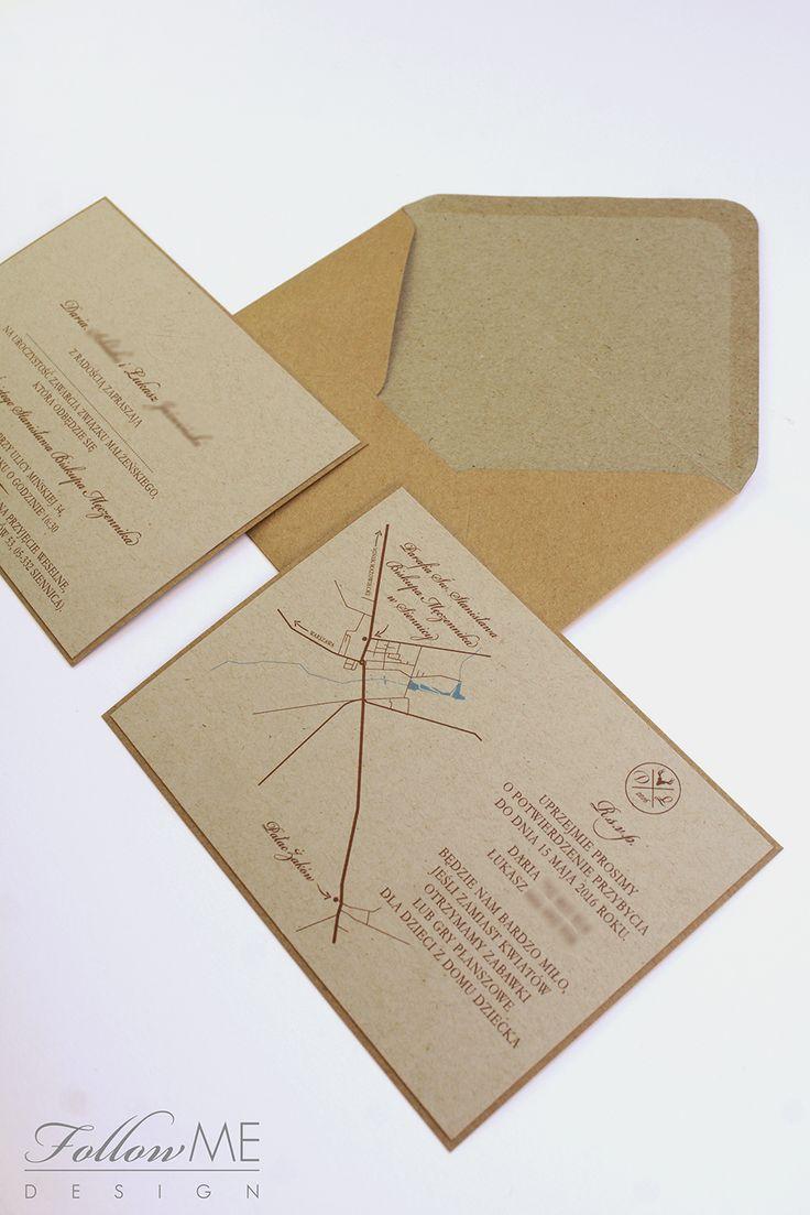 Rustykalne zaproszenia ślubne / Rustykalne dekoracje ślubne od FollowMe DESIGN / Rustic Wedding Invitations / Rustic Wedding Decorations & Details by FollowMe DESIGN