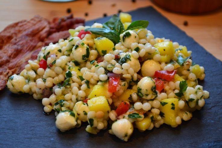 Salade de couscous israélien à la mangue