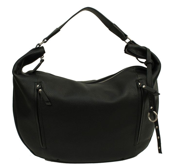 Burkely Mary Hobo Front Double Zipper Black