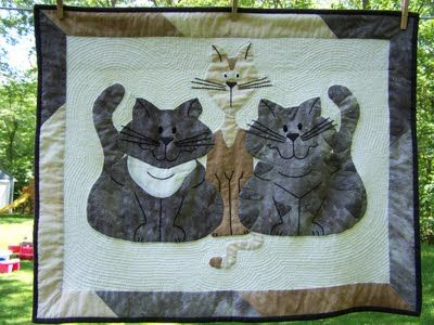 When Life Gives You Scraps, Make Quilts!: Crazy Cats Quilt