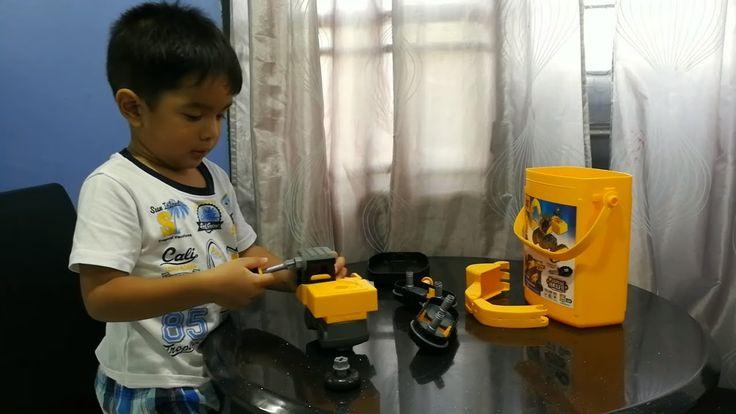 Kid Assemble Toy CAT Excavator