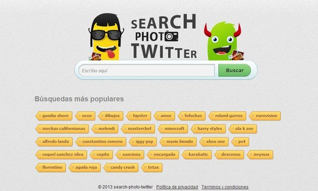 Search Photo Twitter, buscador de fotos a tiempo real en Twitter