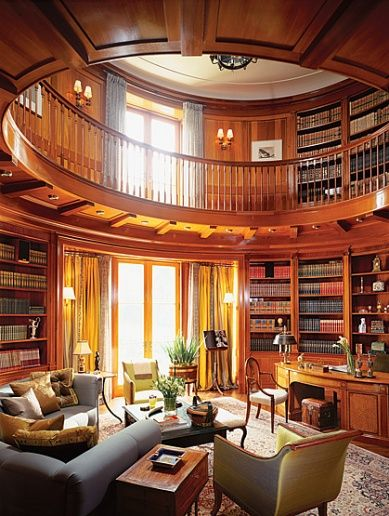 Loving this library...I could have my coffee in here every morning and then go out and meet the day:)