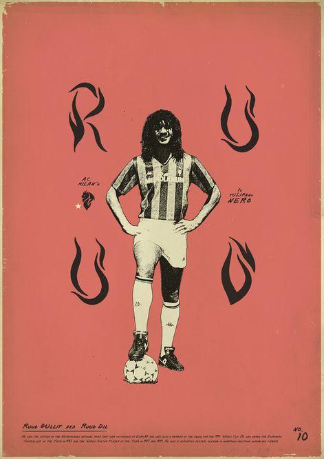 Gullit (Sucker for Soccer by Zoran Lucić, via Behance)