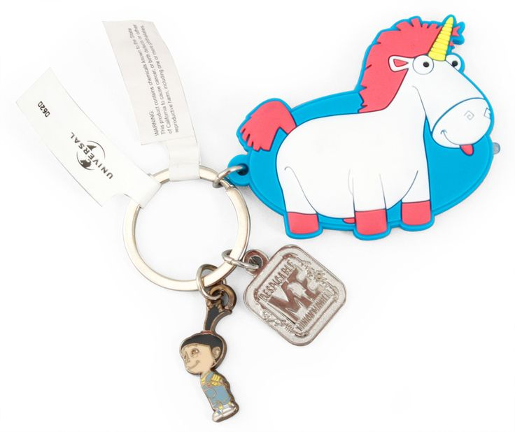 Despicable Me Fluffy Unicorn Keychain Light with Agnes Minion Mayhem NEW (7/5). AHHHH I HAVE THIS !!! I am currently using it as my keychain !!! HEHEHE!! I am IN LOVE WITH IT!! They have a little light on the tip on the unicorn's nose!!! And they have part of Agnes's unicorn song on the back of it!