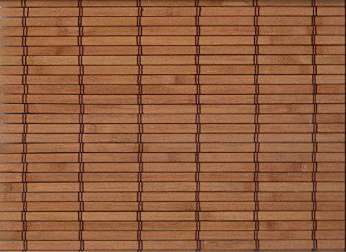 Bambus Raffrollo mit 7,5mm Stäben Bambusrollo - Breite 60 bis 120 cm - Länge 160 cm - Cherry Terrakotta Seitenzugrollo Sichtschutz Fenster Tür Rollo Vorhang Holzrollo Faltrollo (120 x 160 cm)