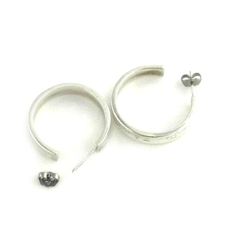 Tiffany and Co. Tiffany and Co. Sterling Silver Hoop Dangle Earrings | TrueFacet