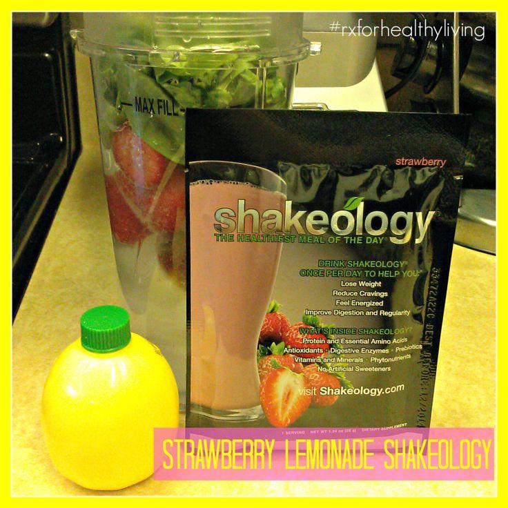 Strawberry Lemonade Shakeology Recipe - #shakeology #strawberry