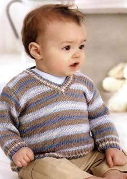 Связать детский свитер 80р