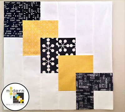 "All-New Modern Block of the Month (BOM) Sew-Along: March ""Up From Here"" Block « Sew,Mama,Sew! Blog"