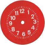 Cara roja del reloj de la vendimia