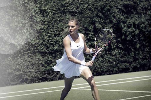 Genie Bouchard in #NikeCourt Premier Slam Dress for Wimbledon 2016