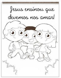 CRIANÇAS PARA JESUS: desenhos/atividades