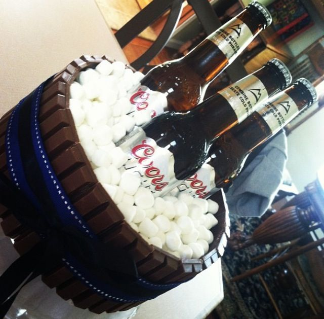 Birthday Beer Cake With White Chocolate