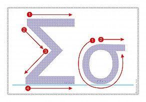 """Εκτύπωση φύλλου δραστηριότηρας με θέμα """"Πώς γράφεται το γράμμα Σ,σ""""."""