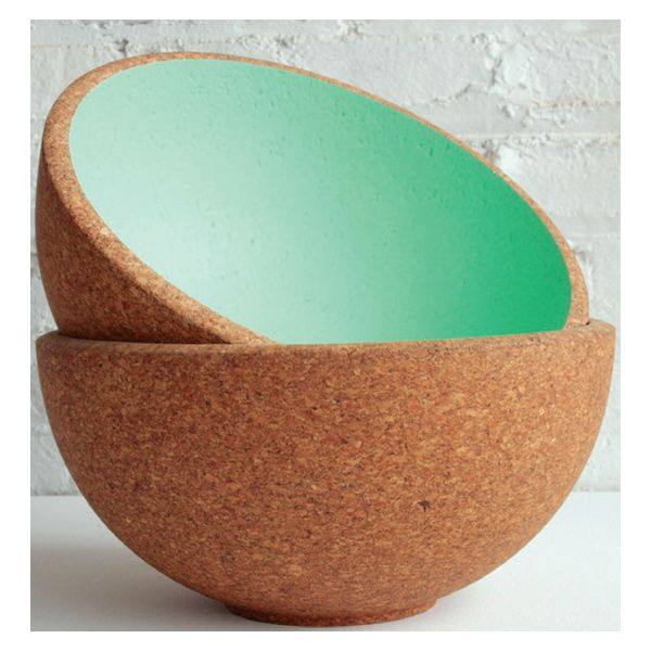 DMFD Praia bowls  Made from recycled cork, DMFD's vibrant Praia bowls are shatterproof making them ideal for outdoor use.  www.danielmichalik.com