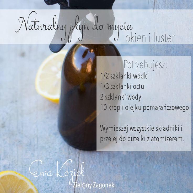Poznaj przepis na naturalny płyn do mycia okien i luster
