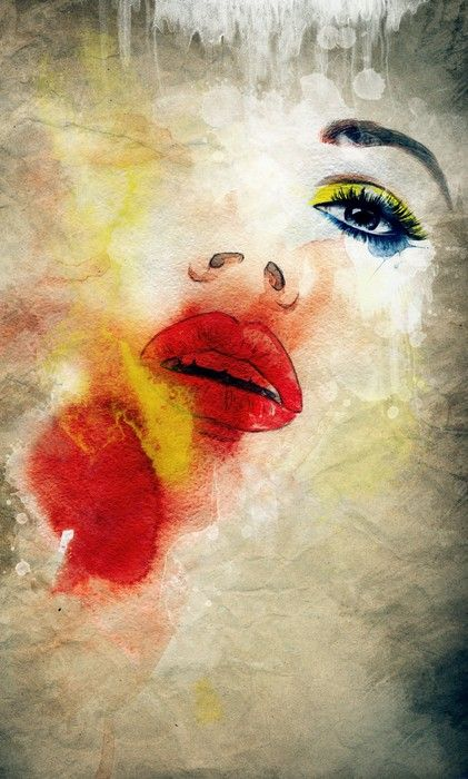 Dream Face Painting from $34.99 | www.wallartprints.com.au #WatercolourPainting