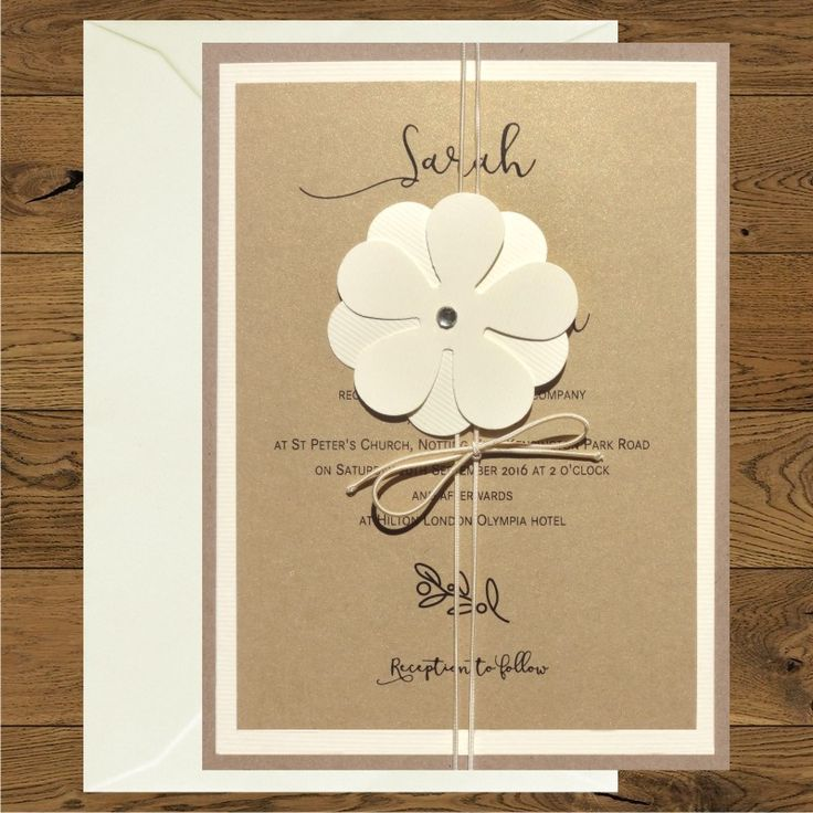 Wedding invitations with flower