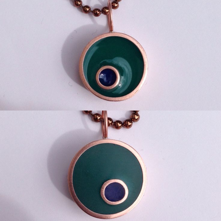 Resin and copper pipe necklace !