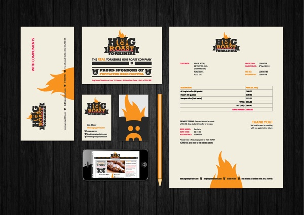 Hog Roast Yorkshire by Donna Hall, via Behance