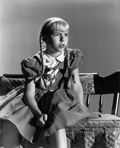 Patty McCormack as Rhoda, the original child from hell in The Bad Seed (1956) (via LIFE):
