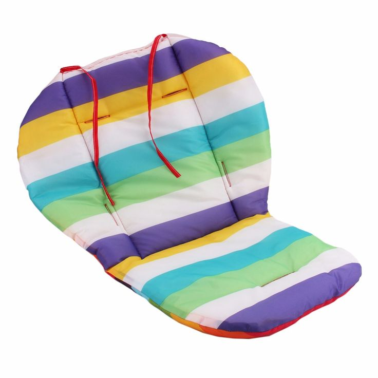 1Pcs Blue Green and Purple Strips Car Seat Pads Baby Stroller Cushion Pad Pram Padding Liner Free Shipping