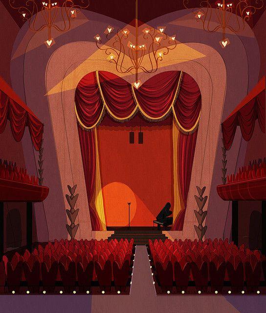 нарисовать театр в картинках