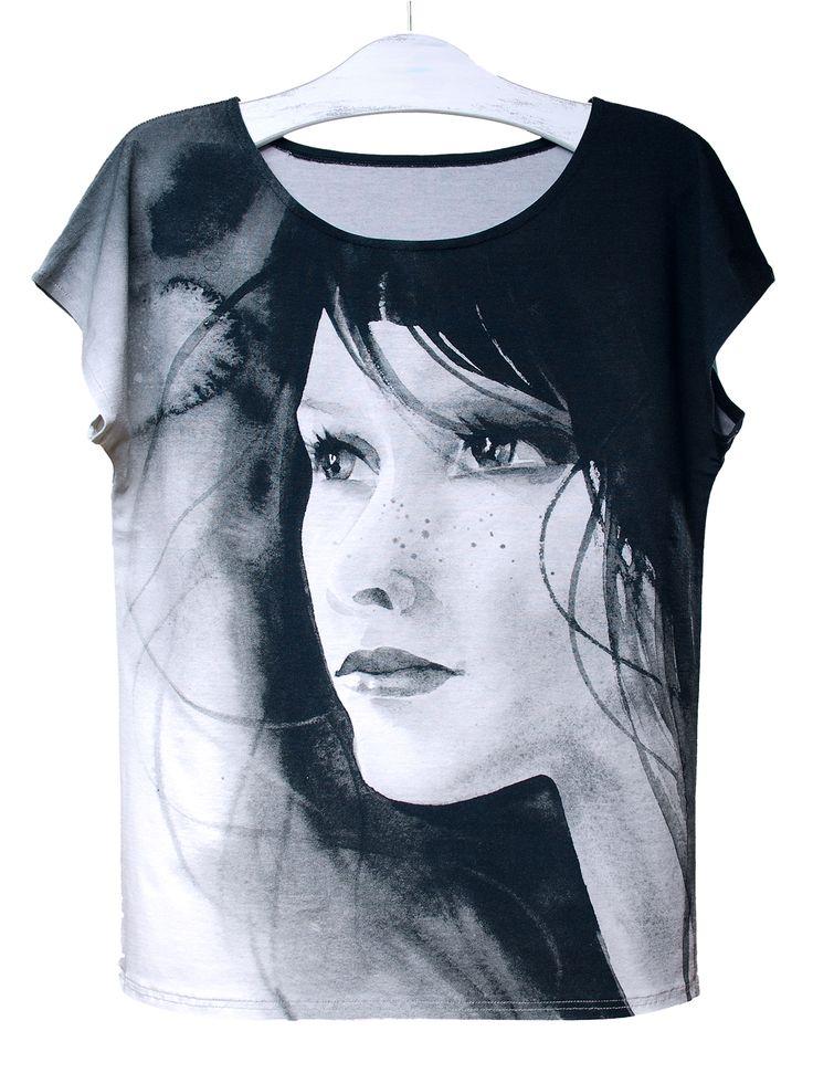 PIEGOWATA | Szept M www.szeptm.pl #watercolor #blouse #face #portrait #woman #clotches