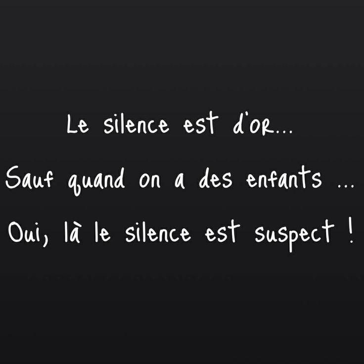Le silence....