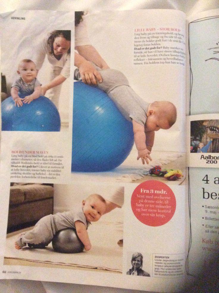 Brug boldene lege med baby