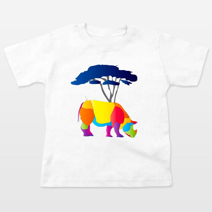 Fun Indie Art from BoomBoomPrints.com! https://www.boomboomprints.com/Product/steelgraphics/Paper_Craft_Rhino/Toddler_T-Shirts/2T_White/