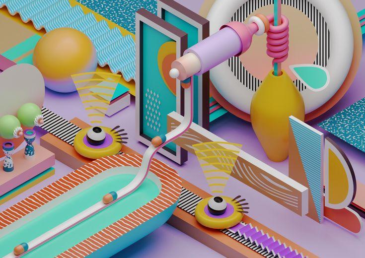 3D, art, abstract, design, illustration - ikyste | ello