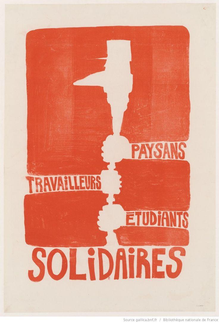 [Mai 1968]. Paysans, Travailleurs, Etudiants, solidaires : [affiche] / [non identifié]
