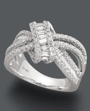 Effy Collection Diamond Ring, 14k White Gold Diamond Loop Ring http://www.thesterlingsilver.com/product/cluse-cl18015-watch/