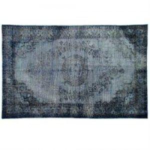 HK-living vloerkleed, tapijt grijs-blauw extra oververfd 180x280cm