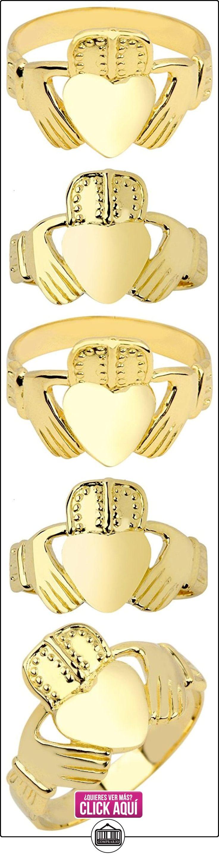 Pequeños Tesoros - Anillos Hombres Alianza De Boda 10 Kt Oro 471/1000 Claddagh Clásico  ✿ Joyas para hombres especiales - lujo ✿ ▬► Ver oferta: https://comprar.io/goto/B0127830JU