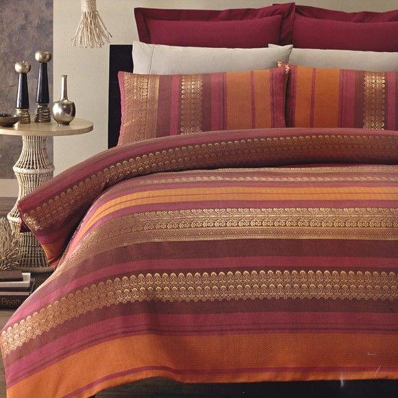 Bombay Burnt Orange Burgundy Gold Maroon Jacquard