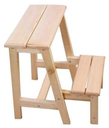 De madera pequeña escalera& pequeño taburete de madera ...