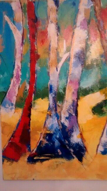 Arboles abstractos Beatriz isaza 1.20x1.20 Acrilico en lienzo Beatrizisaza53@gmail.com Celular 3113240178 Cali- colombia
